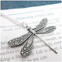 Dragonfly Necklace - Dancing Every Day | periwinkleparadise - Jewelry on ArtFire