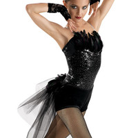 Feather and Tulle Bustle Shorts; Weissman Costumes