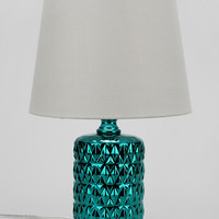 Metallic Diamond Table Lamp