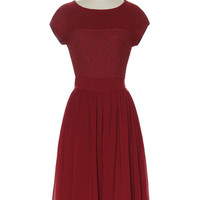 Come Undone Burgundy Dress