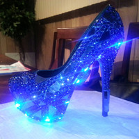 Custom Designed Pump High Heel Showstopper Remix LED lights