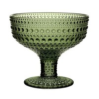 Kastehelmi Footed Bowl in Forest Green - Pop! Gift Boutique