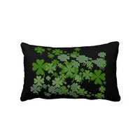 Charming Green Lumbar Throw Pillow