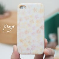 Apple iphone case for iphone iPhone 5 iphone 5s iphone 4 iphone 4s iphone 3Gs : pink flower pattern with golden painting