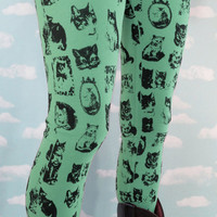 Mint Kitty Leggings.