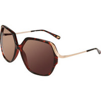 Diane Von Furstenberg Alexandra Oversized Sunglasses - Dark Tortoise Womens Accessories - FREE UK Delivery