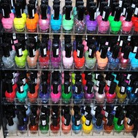 48 Piece Rainbow Colors Glitter Nail Polish Lacquer Set   3 Scented Nail Polsih Remover