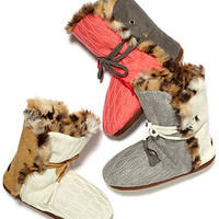 Kensie Slippers, Faux Suede Knit Boot with Faux Fun