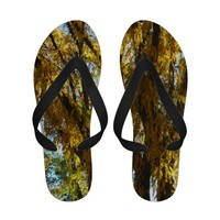 Autumn Tree Flip Flops