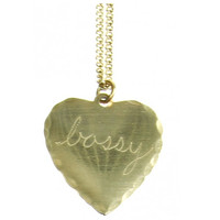 BOSSY HEART NECKLACE