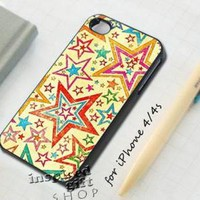 Vintage star layer - design case for iPhone 4 / 4s