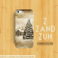 CHRISTMAS iPhone 5 case VINTAGE iPhone 4s case Tree iphone 5s case Galaxy S4 S3 Cover personalized Holiday phone case pine iphone case
