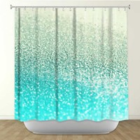 *** GATSBY MINT *** Shower Curtain Artistic Designer from DiaNoche Designs by Arist Monika Strigel Home Décor and Bathroom Ideas