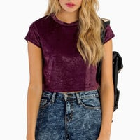 Smooth Like Velvet Crop Top - TOBI