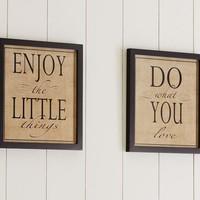 FRAMED ENJOY THE LITTLE THINGS PRINTS, SET OF 2