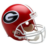 Riddell NCAA Georgia Deluxe Replica Helmet - Red