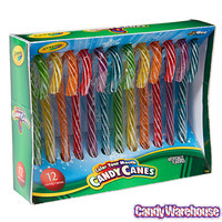 Crayola Color Your Mouth Candy Canes: 12-Piece Box | CandyWarehouse.com Online Candy Store