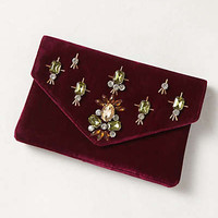 Jeweled Velvet Clutch