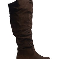 Faux Suede Slouch Boot | Wet Seal