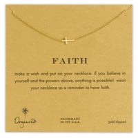 Dogeared 'Reminder - Faith' Boxed Sideways Cross Pendant Necklace | Nordstrom