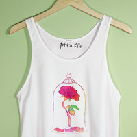 Beauty & The Beast Rose Crop Tank Top | Yotta Kilo