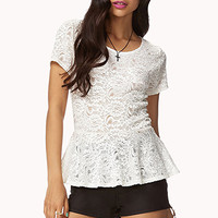 Chantilly Lace Peplum Top