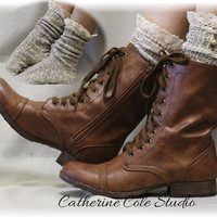 NORDIC LACE in Sage, lace socks for cowboy and combat boots, slouch socks, womens hosiery, ladies socks Catherine Cole Studio SLX1B