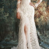 Lacey/women clothing/wedding gown/bridal dress/fish tail/mermaid/custom made/lace/sexy/ALL SIZE/13007
