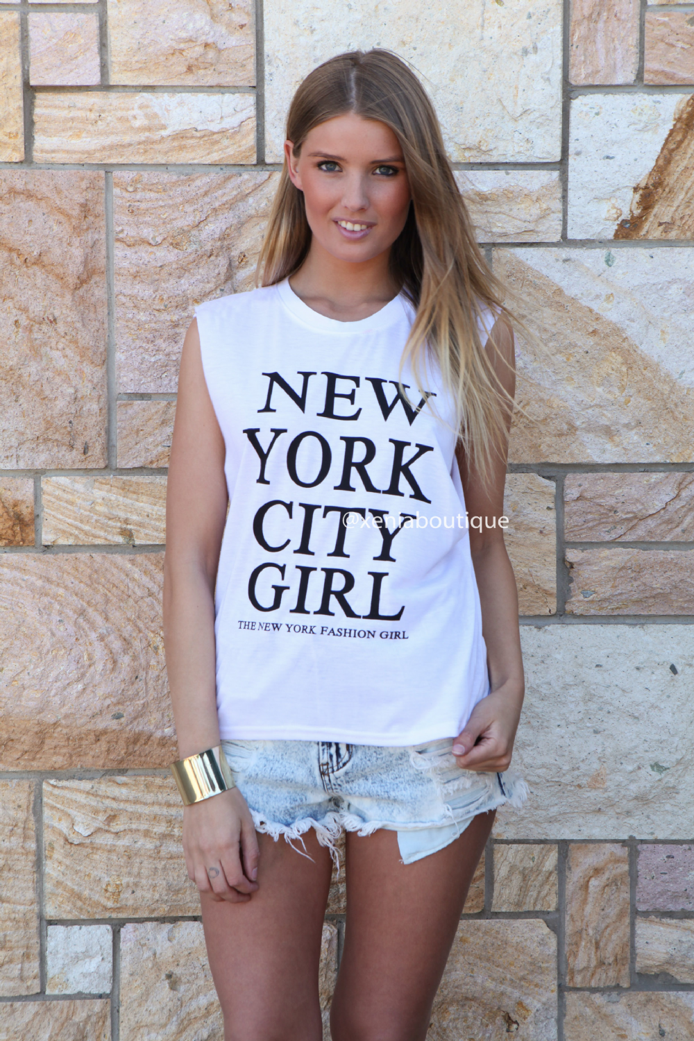 new york city girl muscle tank on the hunt. Black Bedroom Furniture Sets. Home Design Ideas