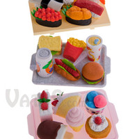 Japanese Food Eraser Sets