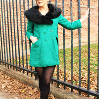 Retro-Inspired Faux Fur Coat