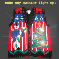Light Up Your Ugly Christmas Sweater with Battery Operated LED Light Kit (Multi)