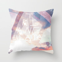 Triangulate Throw Pillow by Ben Geiger