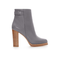 HIGH HEEL LEATHER ANKLE BOOT WITH STRAP