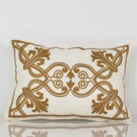 www.roomservicestore.com - Henna Tattoo Embroidered Lumbar Pillow (Out of Stock)