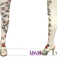 Hello Kitty Avantgarde Tattoo Tights