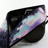 Galaxy No.302 Camera Strap, Hand painted, One of a Kind, dSLR or SLR, Cosmos, Nebula