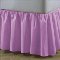 LAVENDER Ruffle Bed Skirt, Egyptian Cotton Bedding 1000 Thread Count all sizes