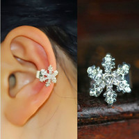 NT0180 Cute snowflake diamond ear bones clip