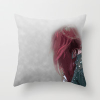 Lost in the Mist Throw Pillow by Jinzha Bloodrose