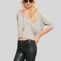 Michelle Dolman Top - Gray - Tops - Clothes | GYPSY WARRIOR