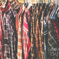 70s - 90s Vintage Flannel Shirts Worn Grunge Thin / Thick Comfortable