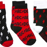 Sourpuss AC/DC Kid's Sock Set Kids Clothing at Broken Cherry