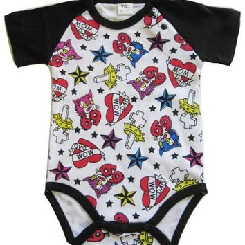 Okutani Tattoo Baby Onesuit Kids Clothing at Broken Cherry