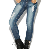 Crochet Back Pocket Roll Cuff Jean | Wet Seal
