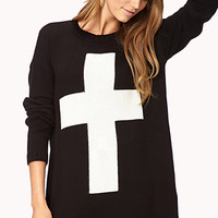 Longline Cross Sweater
