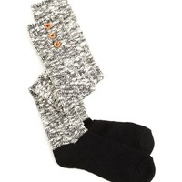 BUTTON TRIM KNIT SOCK