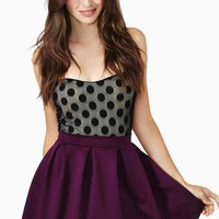 Scuba Skater Skirt - Berry