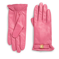 Kate Spade - Good Point Pyramid Bow Leather Gloves