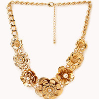 Opulent Floral Bib Necklace